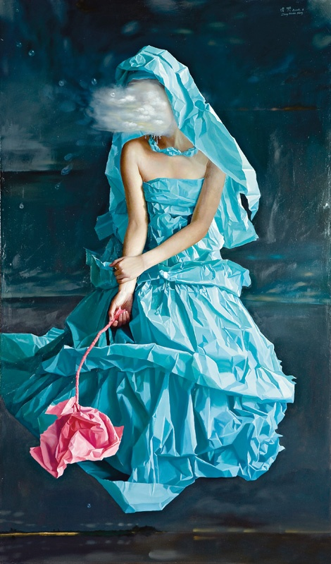 2. Zeng Chuanxing  Blue Paper Bride-Dream, 2008  © Courtesy of Phillips de Pury  & Company