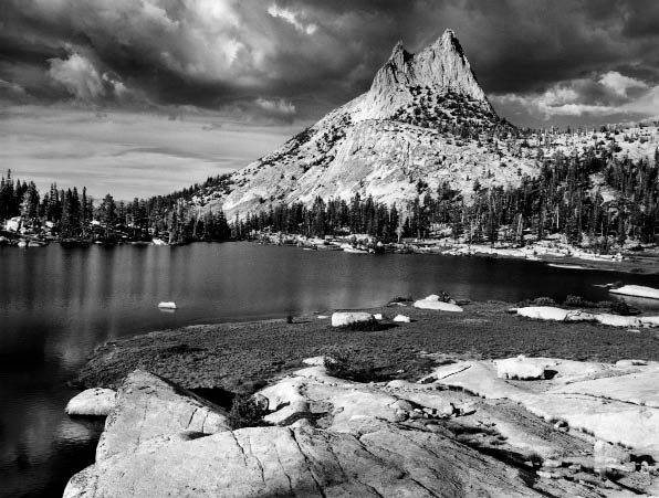 Ansel Adams. Cathedral Peak and Lake. 1938