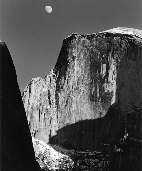 Ansel Adams. Moon and Half Dome. 1960