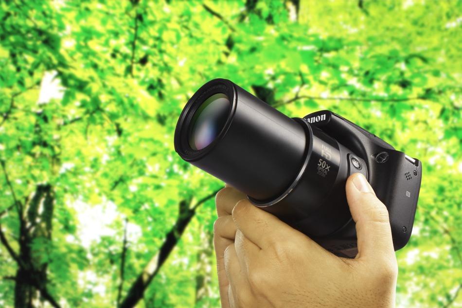 Зум на фотоаппарат кэнон