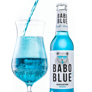 BABO Blue. Exotic beer mix drink