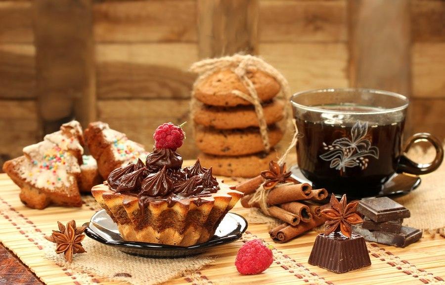прекрасна, открытки с чаем и сладостями дома можно беспрепятственно